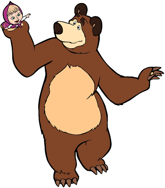 Transparent brown bears clipart - Brown Bear Clipart - Masha And The Bear Animation