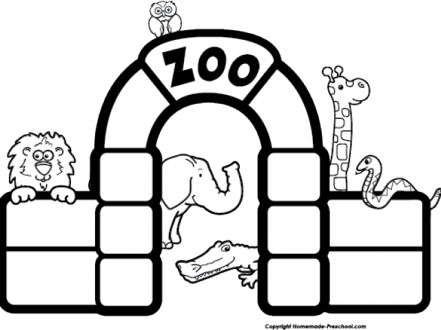 Black And White Zoo Transparent Cartoon Jing Fm