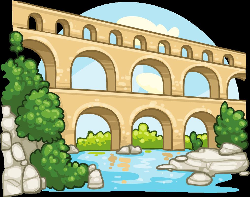Transparent bridge clip art - Aqueduct Clipart - Ancient Rome Aqueducts Clipart