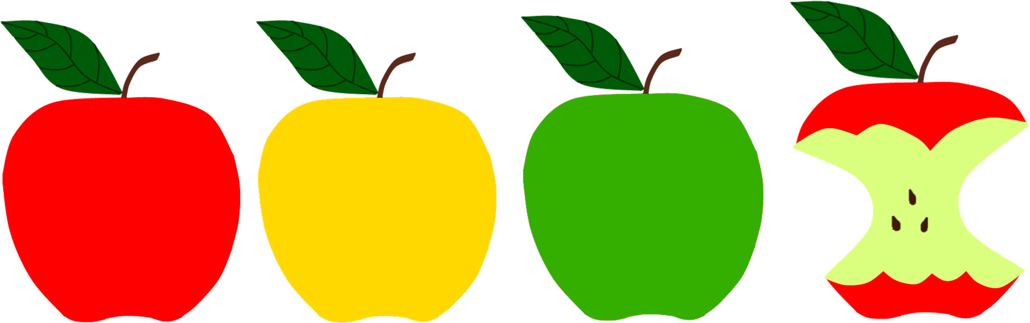 Transparent apples clipart - Apple Picking Clipart - Red Yellow Green Apple