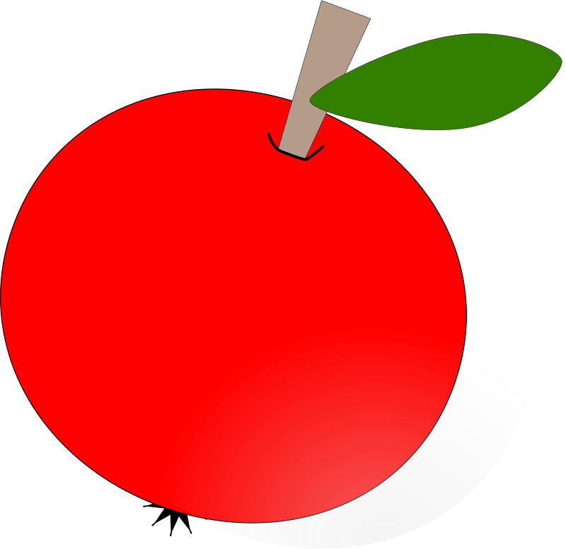 Transparent apples clipart - Free Vector Red Apple Clip Art - Round Apple