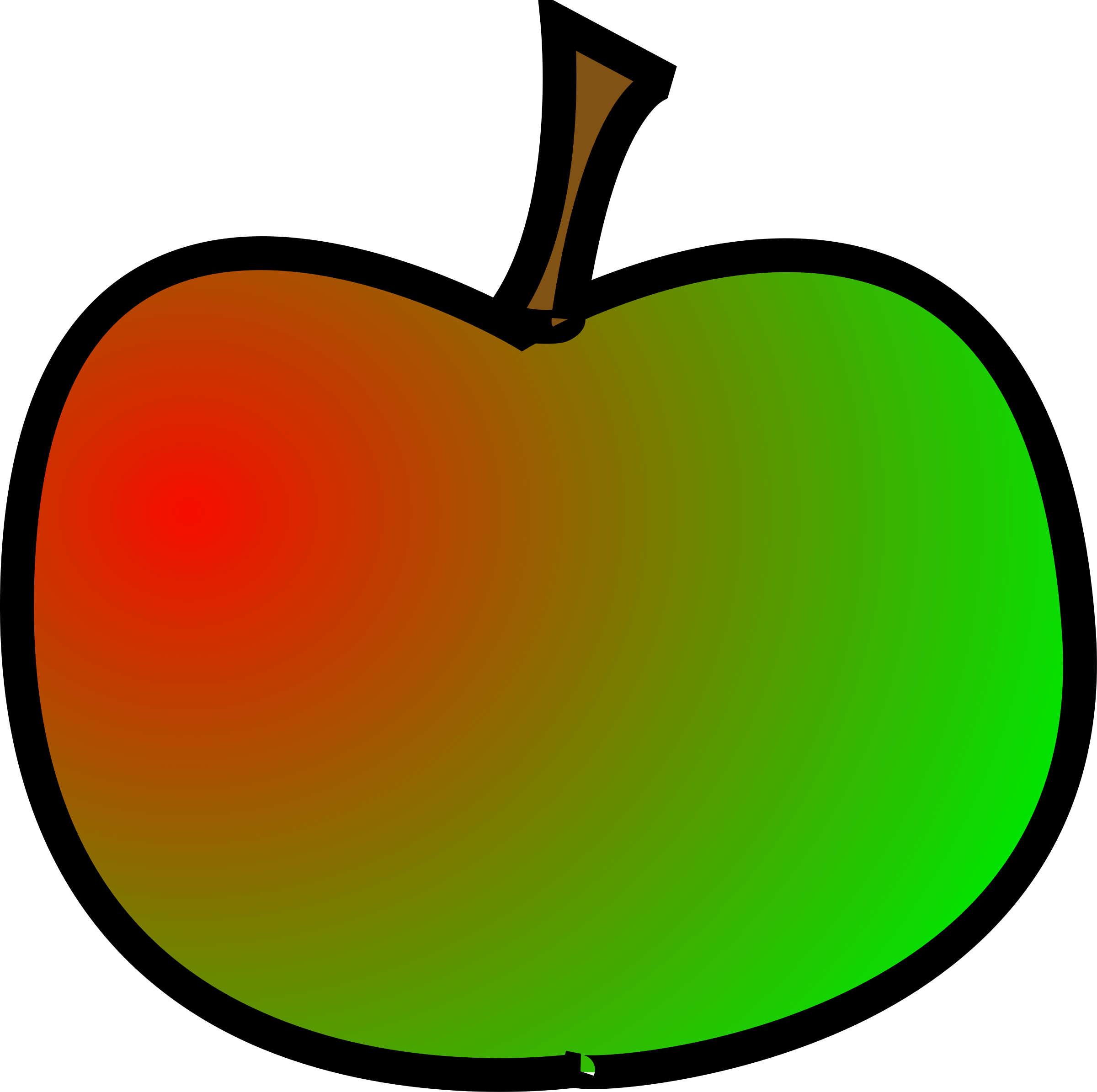 Transparent apples clipart - Apple Green Red - Cartoon Red And Green Apple