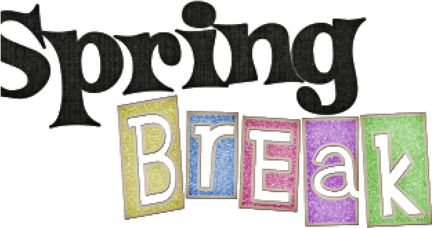 Transparent spring break clipart - Spring Break Cliparts - Spring Break Word Art