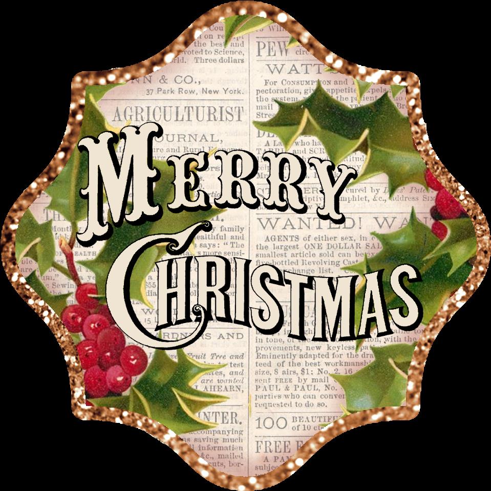 Transparent christmas clip art borders - Clipart Borders Vintage - Vintage Merry Christmas Clip Art