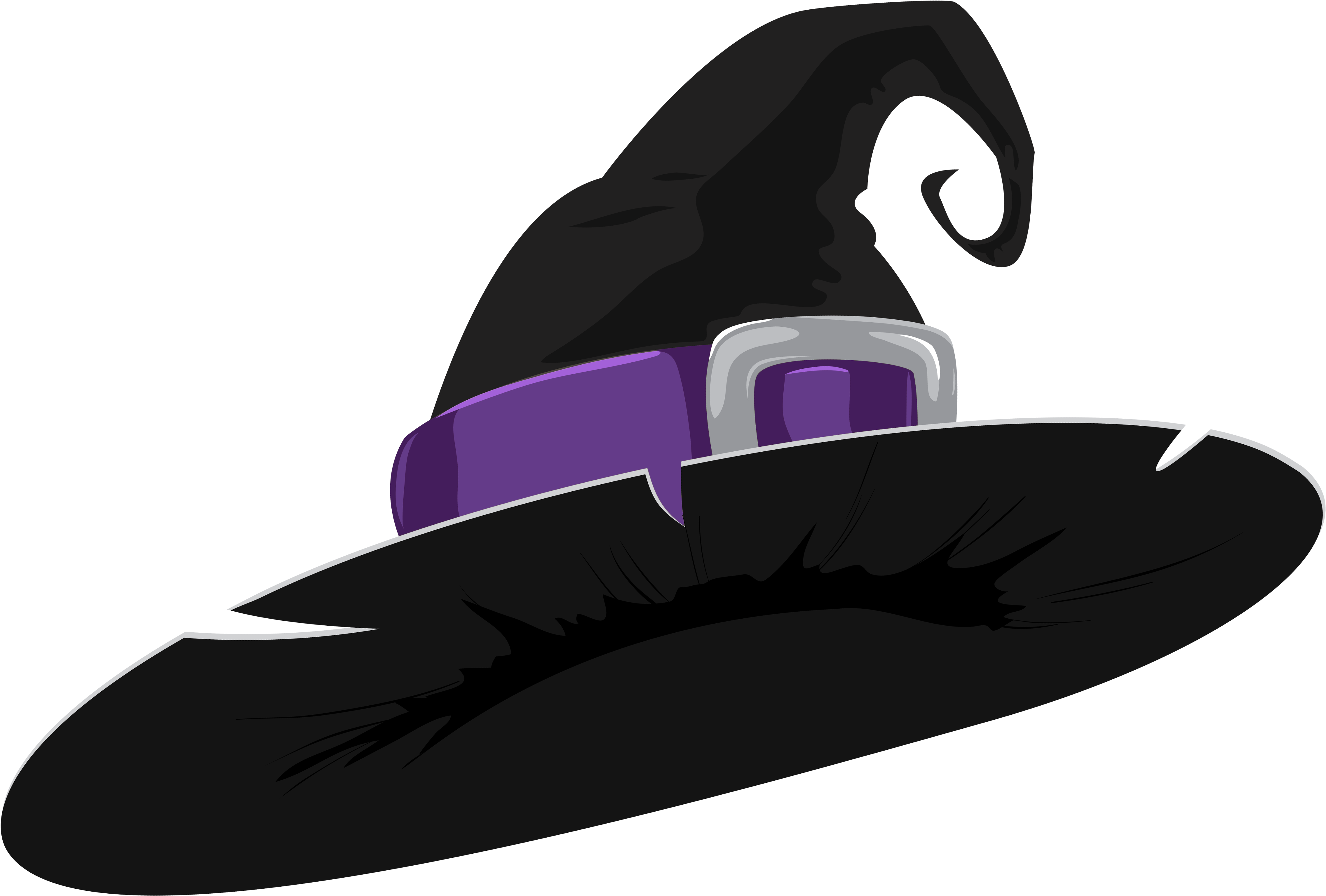 Witch Hat Black And Purple Clipart Image Halloween Witch Hat Png Transparent Cartoon Jing Fm