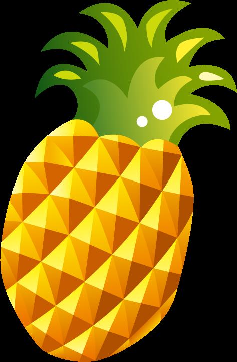 Cartoon Pineapple Fruit Cartoon Transparent Cartoon Jing Fm
