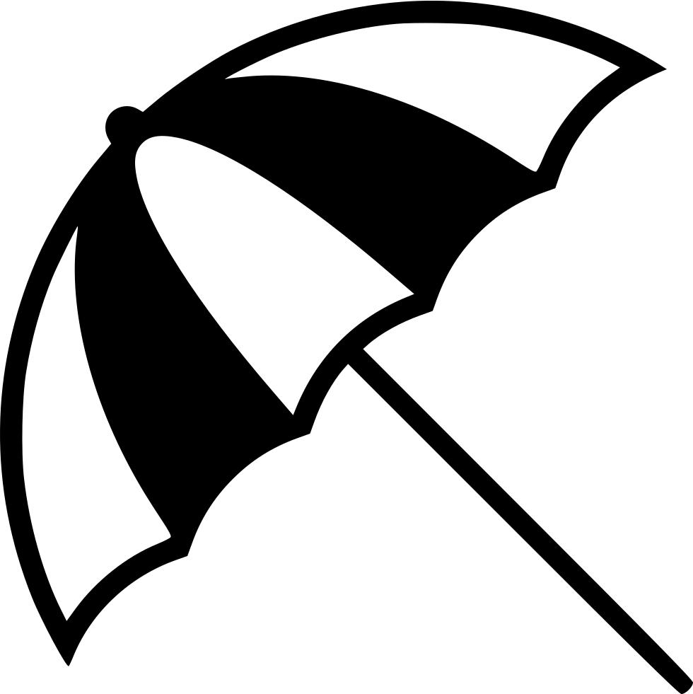 Transparent beach umbrella clipart black and white - Beach Icon Png - Beach Umbrella Icon Png