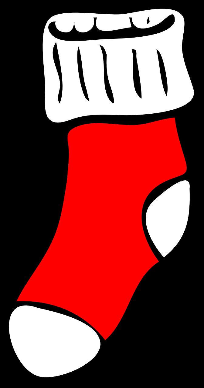 Transparent hanging christmas stockings clipart - Stocking Christmas Sock - Outline Picture Of Socks