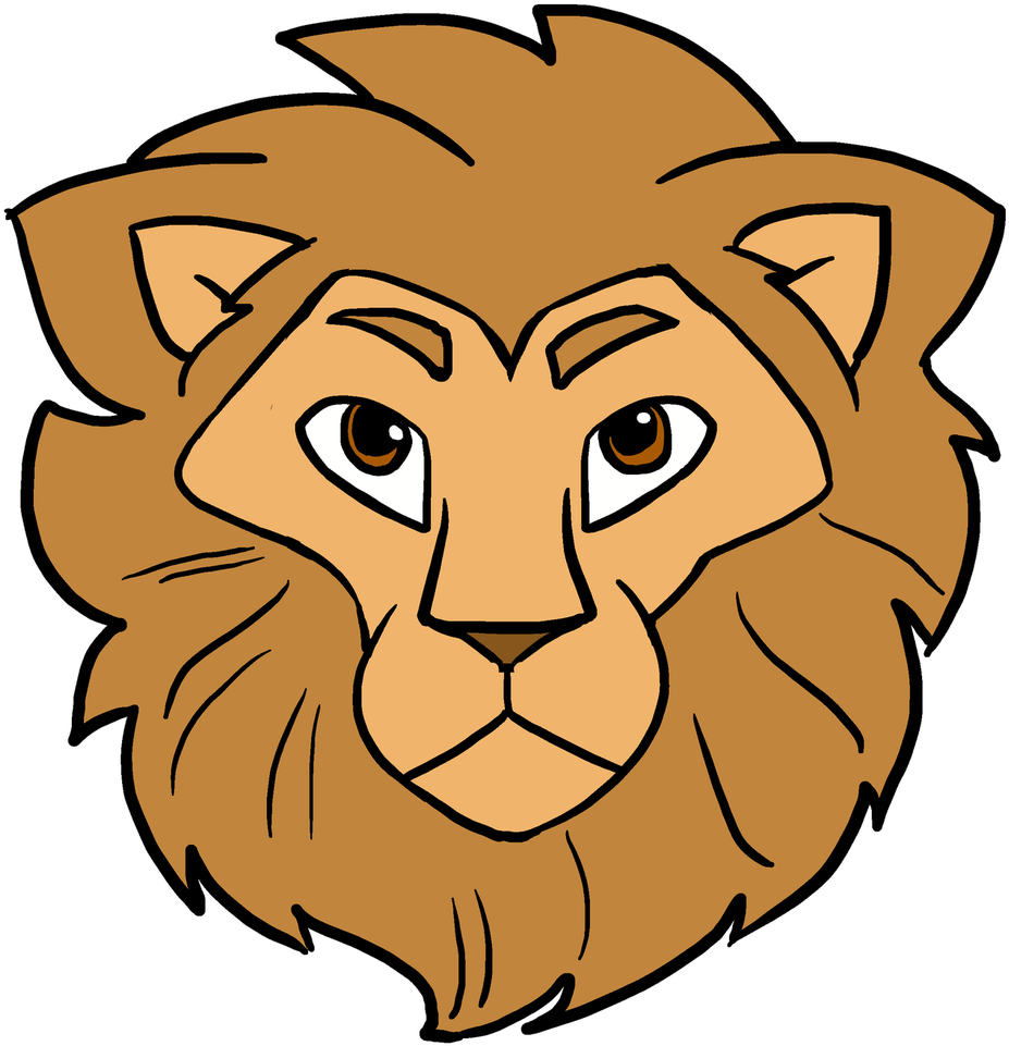 Transparent lions head clipart - How To Draw Lion Head - Lion Face Easy Drawing