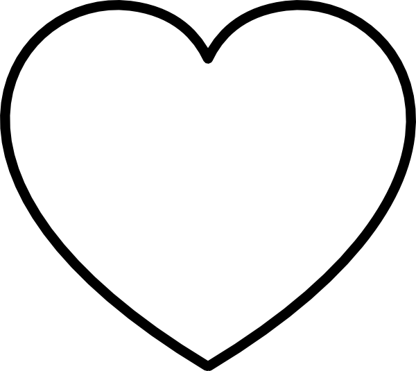 Free Black And White Heart Outline, Download Free Clip Art, Free Clip Art  on Clipart Library