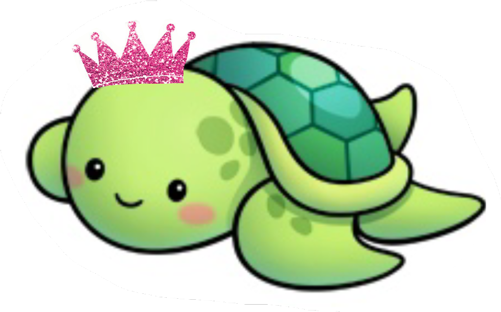 Transparent seaturtle clipart - #princess #turtle #mom #pink #crown - Cute Sea Turtle Drawing