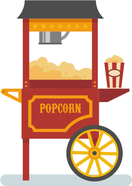 Transparent clipart of popcorn - The Winner Will Be Drawn At Random From All Contacts - Cartoon Cotton Candy Machine