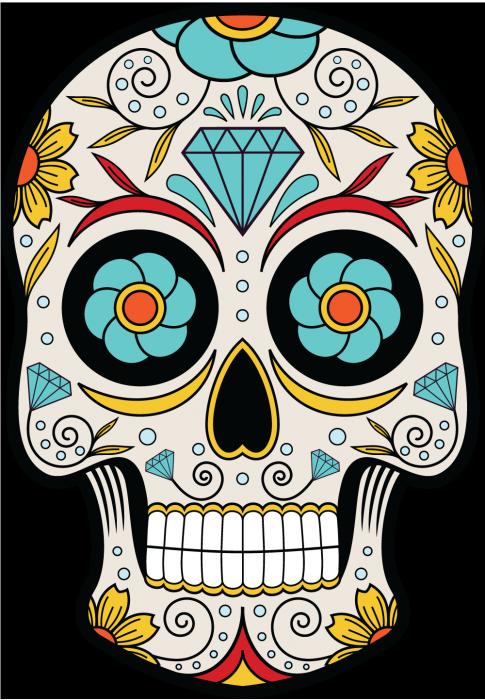 Transparent sugar skulls clipart - Sugar Skull Clipart Mexican Skull - Tete De Mort Dia De Los Muertos