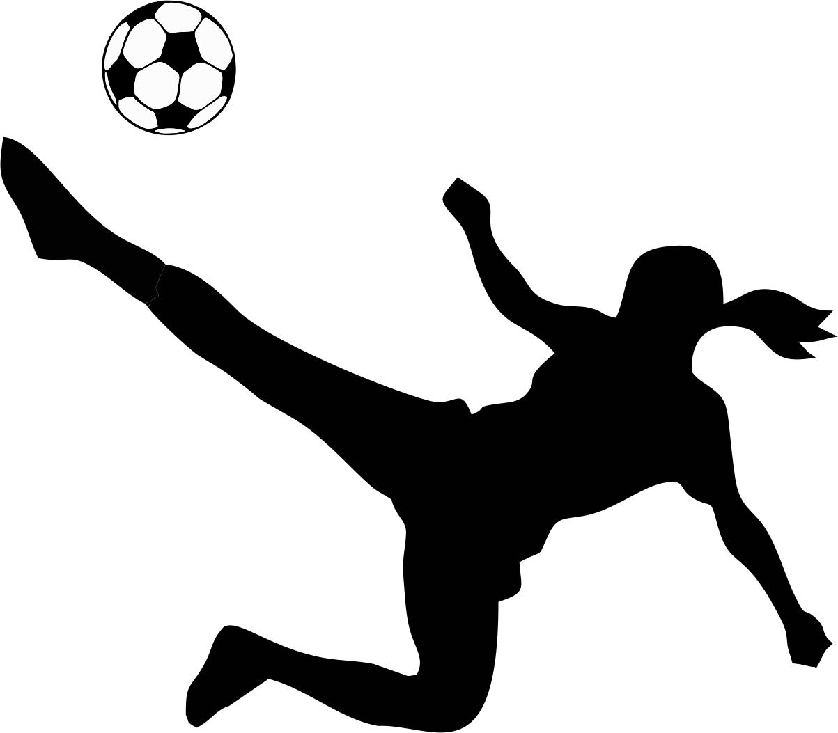 Transparent soccer players clipart - Footballer Clipart School Football - Girl Kicking Soccer Ball Clip Art