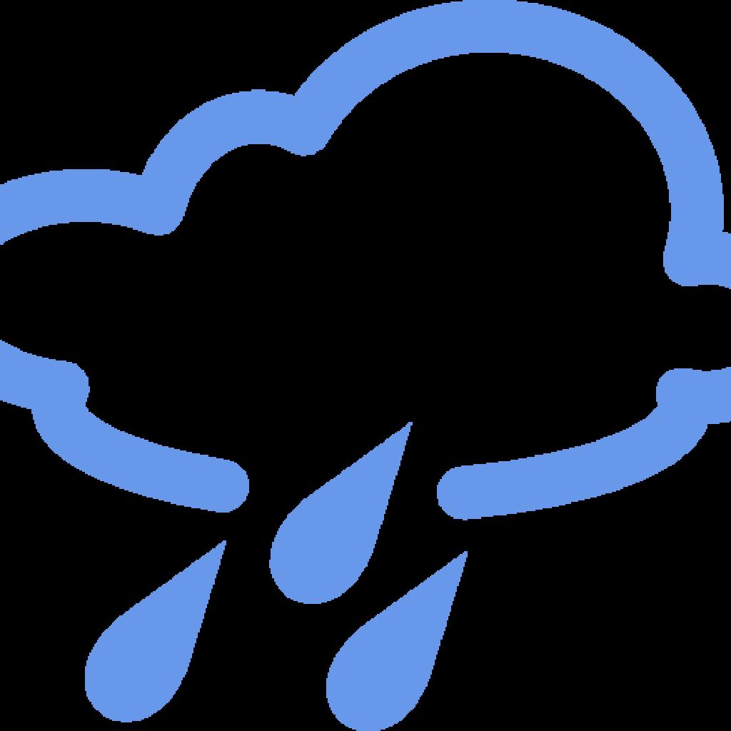 Transparent rainy days clipart - Rainy Clipart Weather Word - Rain Weather Forecast Symbols