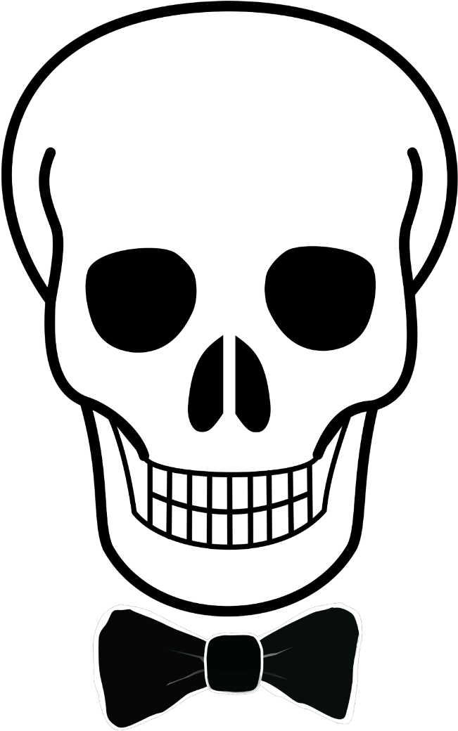 Transparent sugar skull clipart black and white - Easy Simple Skull Drawing Clipart , Png Download - Easy Simple Skull Drawing