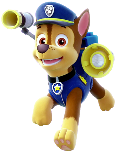 Transparent paw patrol bone clipart - Paw Patrol Chase Png - Chase Paw Patrol Png
