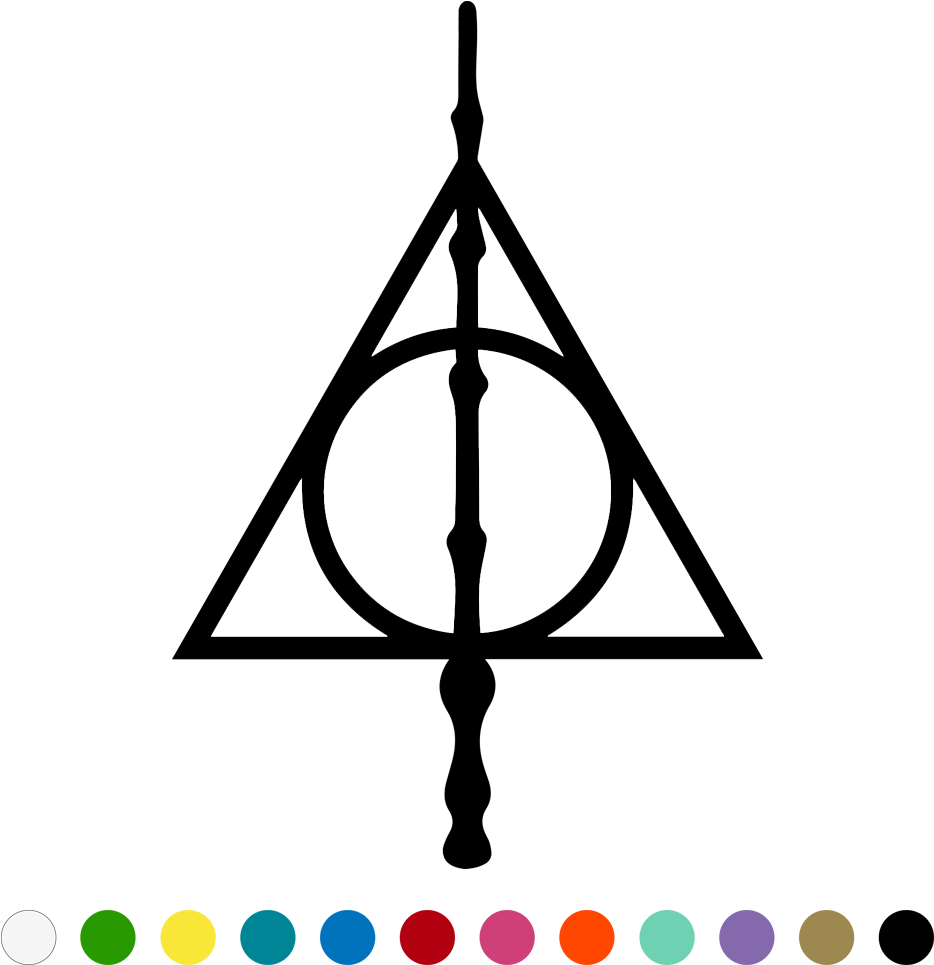 Harry Potter Clipart Deathly Hallows - Solemnly Swear That ...