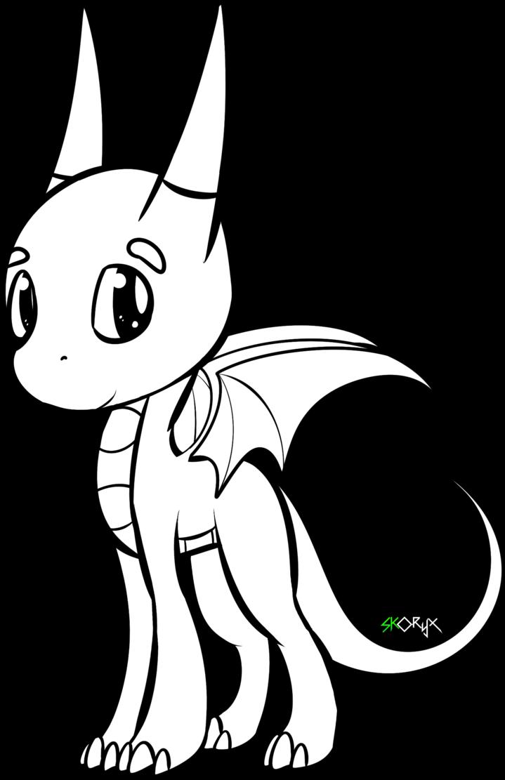 Chibi Dragon Drawing Draw Chibi Dragons Step By Step Transparent Cartoon Jing Fm