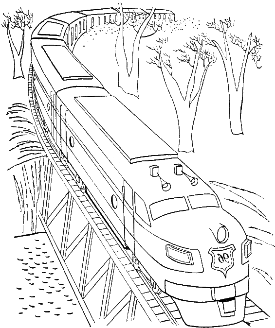 Train Passing The Bridge Coloring Pages Train Bridges Coloring Pages Transparent Cartoon Jing Fm