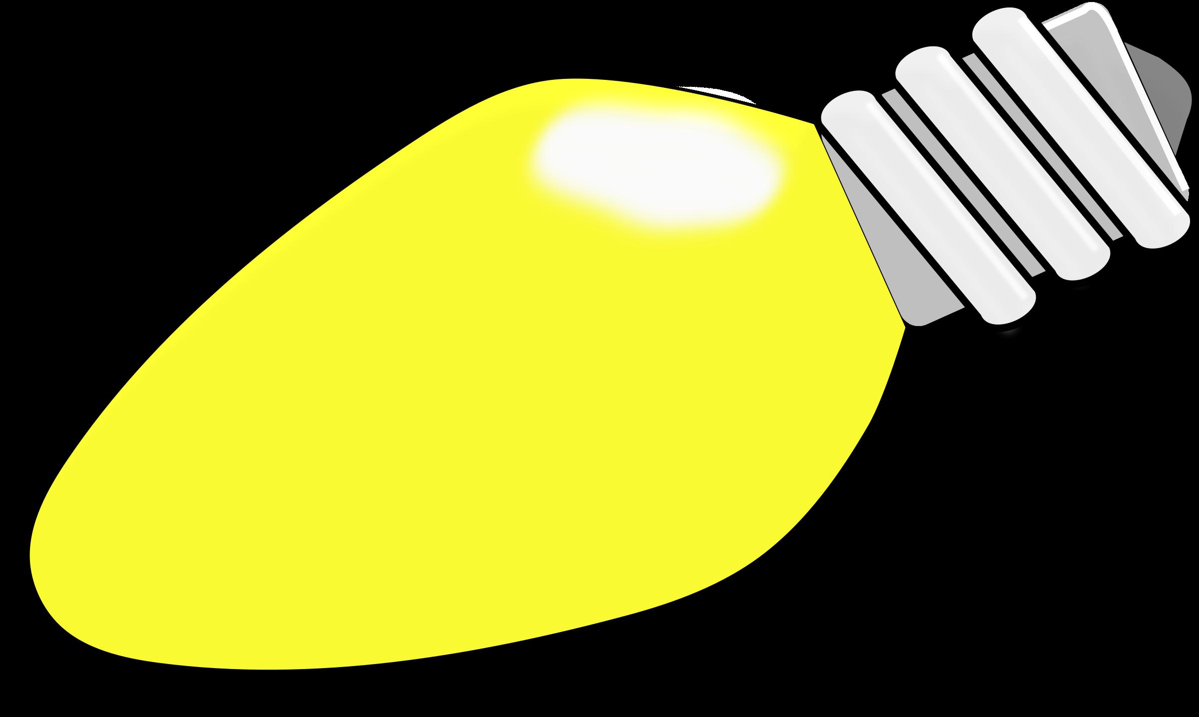 Transparent christmas light clip art - Christmas Lights Clipart Yellow - Large Christmas Light Bulb