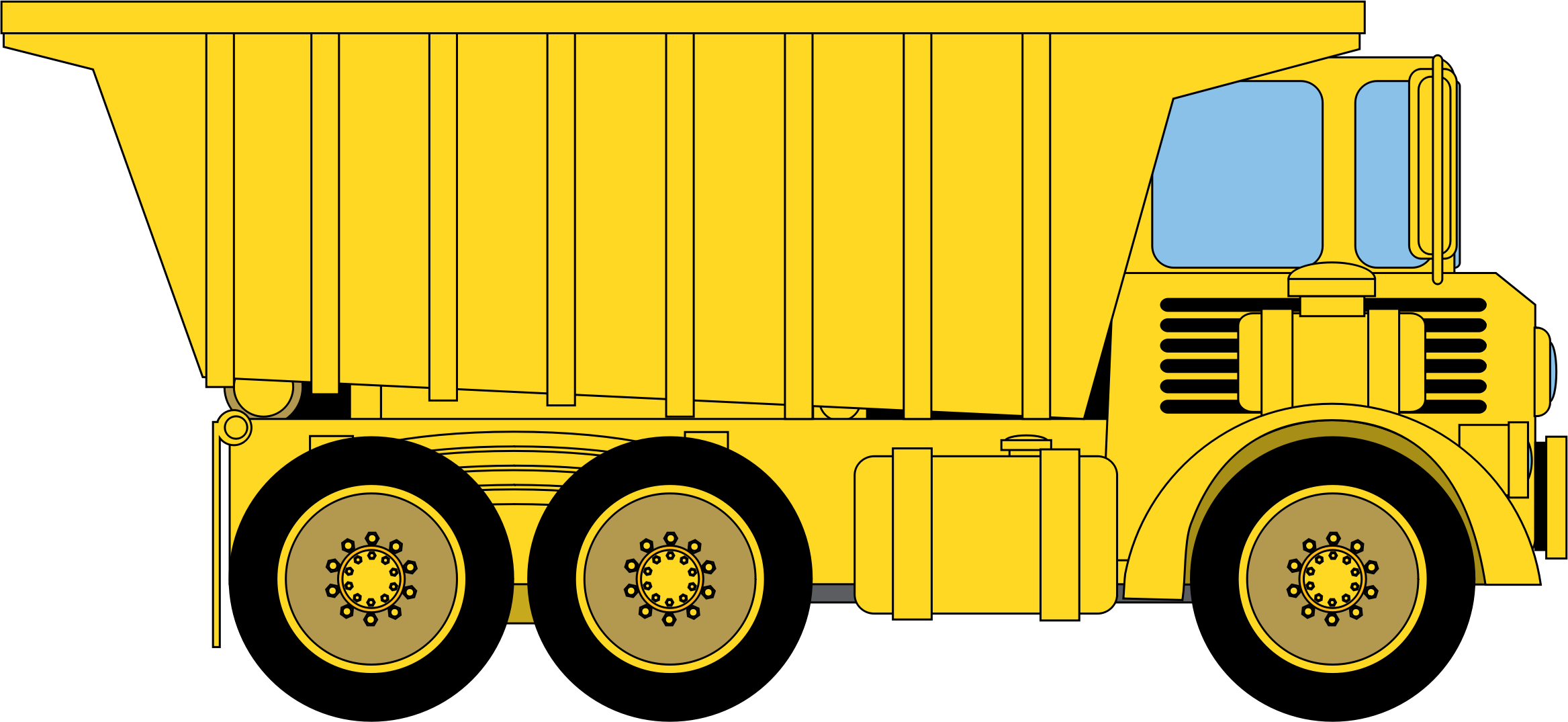 Transparent dump truck clip art - Download - Dump Truck Clipart Png