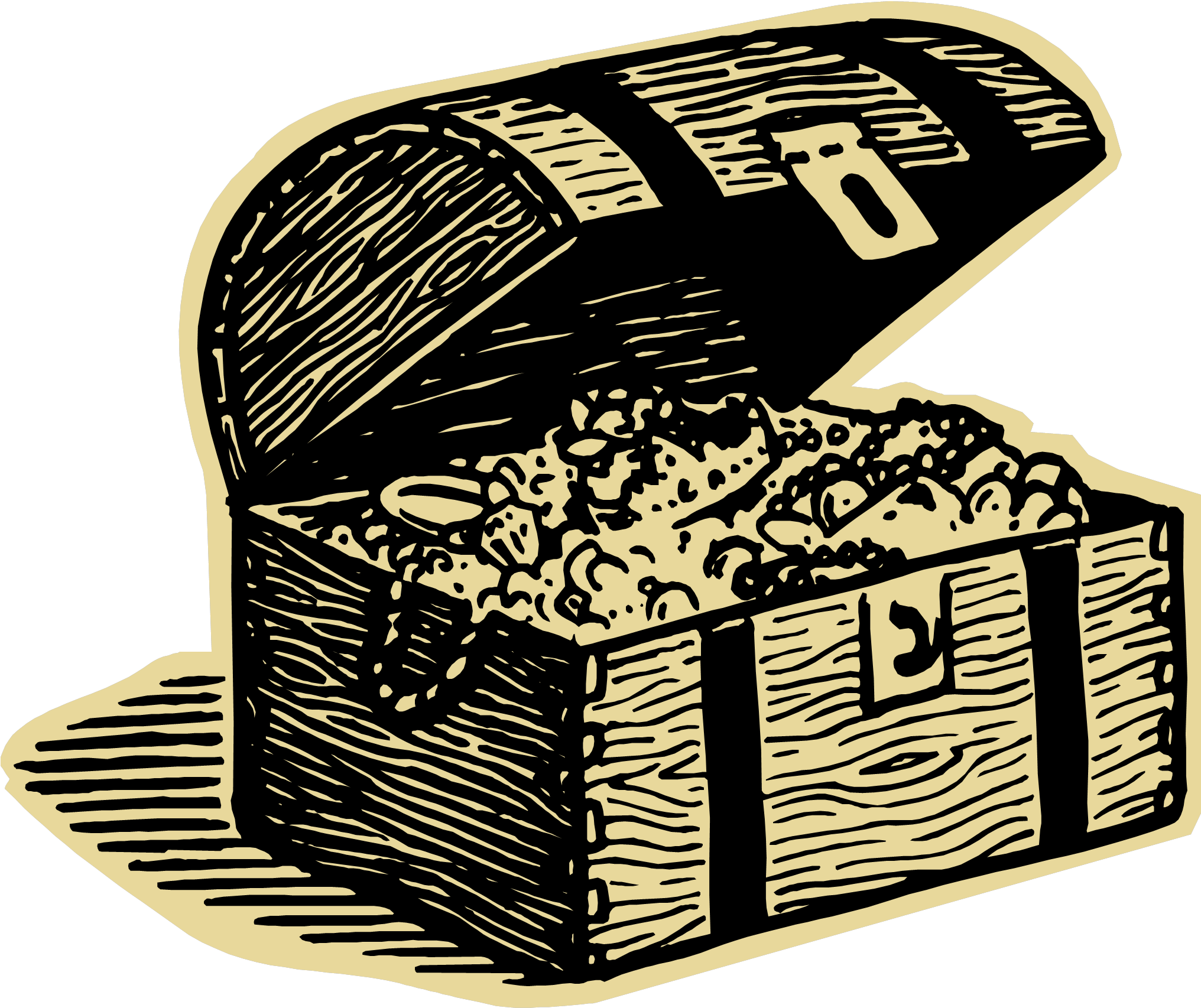 Transparent treasure chest clip art - Chest Clipart Pile Treasure - Treasure Hunt Animated Gif