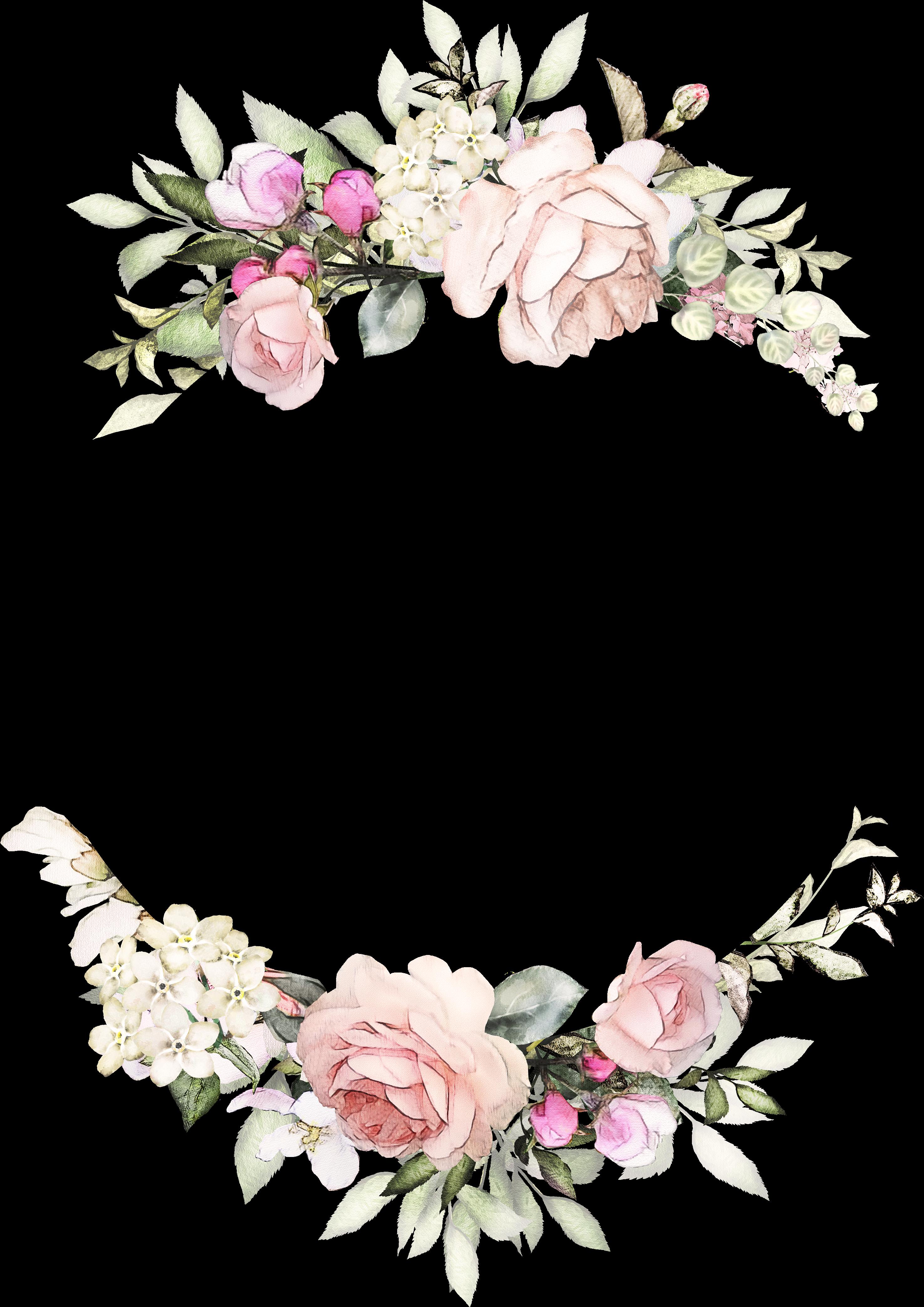 Transparent wreath clipart transparent background - Vintage Rose Wreath Invitations Paper Design Invitation - Floral Backgrounds For Wedding Invitations