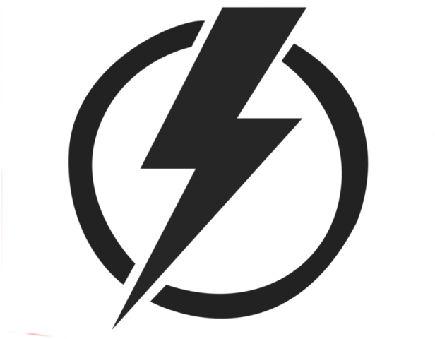 Transparent thunder clipart black and white - Thunder Clipart Electricity - Electricity Symbol Png