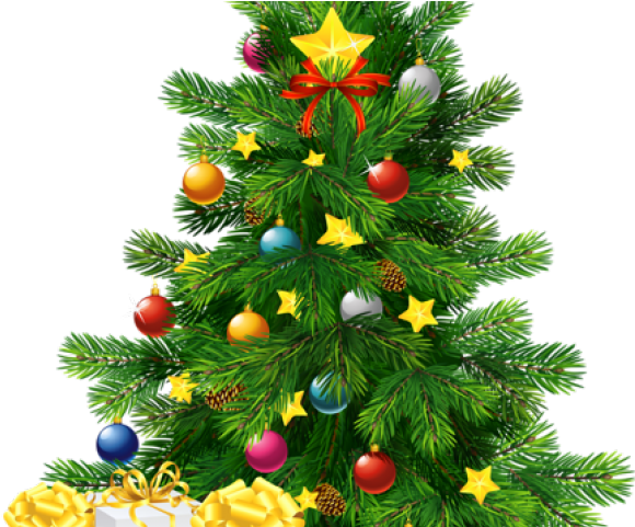 Transparent decorated christmas tree clipart - Christmas Trees Clipart - Christmas Tree With Gifts Png
