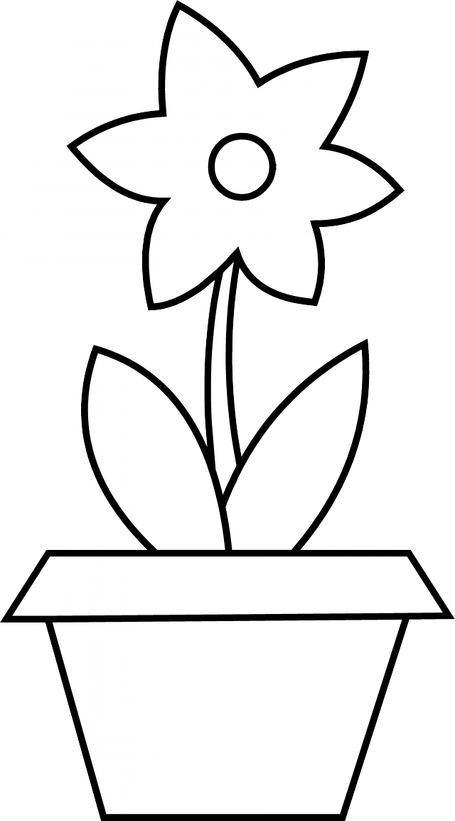 Flower Pot Coloring Pages - Best Coloring Pages For Kids | 1154x640