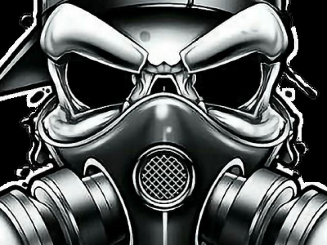 Drawn Gas Mask Gangster Gas Mask Skull Drawing Transparent Cartoon Jing Fm