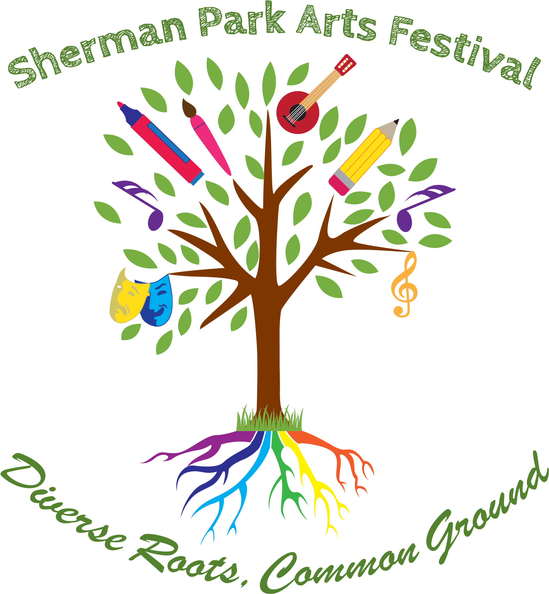 Transparent family tree with people clipart - The Sherman Park Arts Festival Community Arts Day Is - Illustration